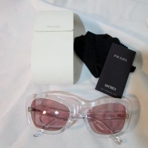 NEW PRADA ITALY CAT EYE LUXOTTICA SPR 19M Sunglass